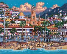 DOWDLE FOLK ART COLLECTORS JIGSAW PUZZLE PUERTO VALLARTA MEXICO 500 PCS
