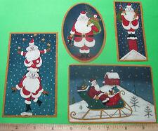 Christmas Fabric Iron On AppliquesCountry Santa Claus ( style #1)