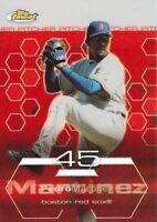 2003 Topps Finest Refractor #99 Pedro Martinez Boston Red Sox