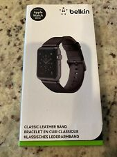 Belkin Classic Leather Band for Apple Watch Series 1 2 3  (38mm, Black) - New