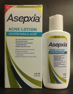 2 x ASEPXIA ACNE LOTION 4 fl oz PIMPLES & BLACKHEADS / LOCION BARROS ESPINILLAS