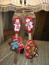 Bear & Gingerbread Man Silicone Spatula & Cookie Cutter Teacher Gift/Baker Lover