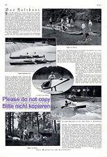 Das Faltboot 1924 XL Seite Bericht & 5 Abbildungen +