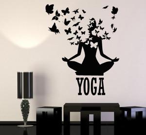 Wandtattoo Yoga Lotus Zen 47 Farben Butterfly Wandsticker Sticker Wandaufkleber