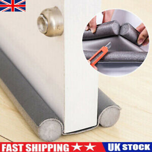 Waterproof Seal Strip Draught Excluder Stopper Door Bottom Guard Double Grey NEW