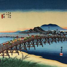 Furoshiki Japanese Wrapping Cloth Large Hiroshige Okazaki