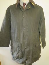 "Barbour A200 Border Waxed jacket - M 40"" Euro 50 or UK 16 in Green"