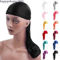 Unisex Durag Headband Men Women Headwear Bandana do doo du rag Rap long tail Cap
