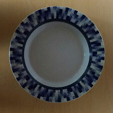 Dansk Radia Blue White Rim Soup Bowl Portugal