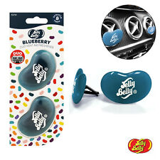 NEW Jelly Belly DUO Vent Two Pack Blueberry Jelly Bean 3D Car Air Freshener