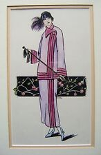 "Moda un ""tronco"" Diseño Art Deco Abrigo emj con Col Enmarcado C1925"