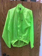 Castelli Cycling Jacket Neon Green Safety Don't Hit Me! Size XL D-2