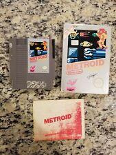 Metroid Nes CIB Nintendo Complete W/ Manual Box Nintendo FREE SHIPPING