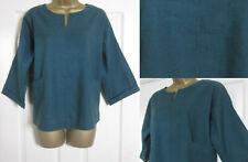 NEW Seasalt Ladies Carlyon Bay Top Shirt Smock Cotton Linen Blend Green 8-18