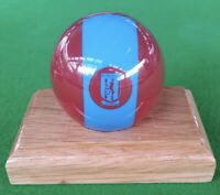 2 INCH  ARAMITH NOVELTY  ASTON VILLA FOOTBALL TEAM POOL BALL