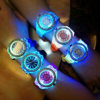 Women Fashion Wrist Watch Sport Waterproof LED Backlight Crystal Quartz Watch