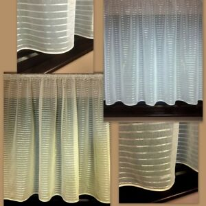 WHITE OR CREAM NET CURTAINS  READY TO HANG