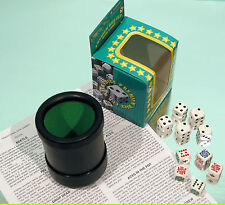 Deluxe Dice Cup - Poker Dice - Spot Dice - Multi Dice Games - Ref: 00546