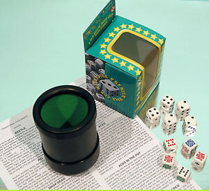 Deluxe Dice Cup - Poker Dice - Spot Dice - Multi Dice Games - SPECIAL OFFER