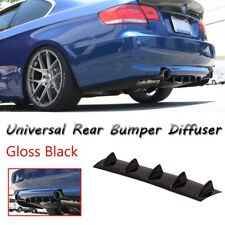 Universal Lower Rear Body Bumper Lip Diffuser Shark Fin Spoiler Gloss Black 5Fin