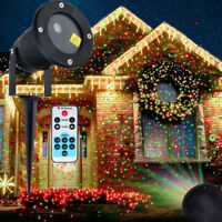 Moving Laser Projector R&G Light Outdoor LED Waterproof Xmas Garden Party Lights