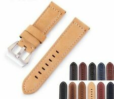 New Universal Retro Calf Leather Watch Band 20mm 22mm 24mm 26mm Leather Strap