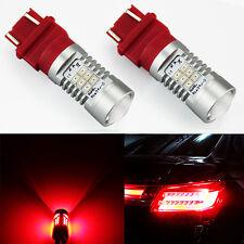 JDM ASTAR 2x 3157 3156 Pure Red High Power PX SMD 12V LED Brake Tail Lights Bulb