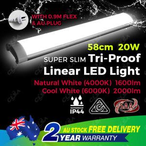 20W 60 cm 2FT Slimline LED Batten Linear Light Tube Fixture Ceiling Wall Surface