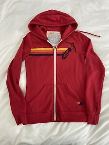Aviator Nation Women's Full Zip Hoodie Size Small Red