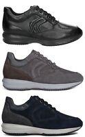 GEOX RESPIRA HAPPY U4356H scarpe uomo sneakers pelle camoscio zeppa stringhe