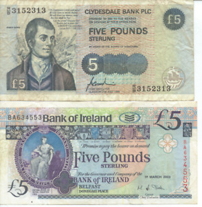 IRELAND - 2x BANK NOTES - All are circulated