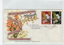 MALAYSIA: 1963 World Orchid Conference Singapore first day cover (C41837)