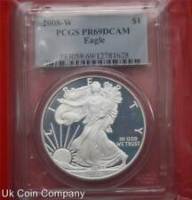 2008 W United States Pcgs 1oz Silver Proof Eagle Graded Pr69 Coin