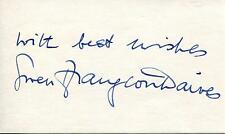 """GWEN FFRANGCON DAVIES """"THE DEVIL RIDES OUT"""" ACTRESS SIGNED CARD AUTOGRAPH"""
