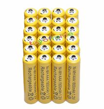 24x AAA 1800mAh 1.2V Ni-MH Rechargeable battery 3A Yellow Cell for MP3 RC Toys