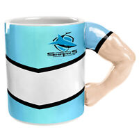 St George Illawarra Dragons NRL Guernsey Coffee Mug Cup Moulded Muscled Arm a...