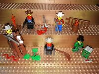Lego Western Figuren Minifig Wild West Cowboys Sheriff Zubehör Pferd Fort P32
