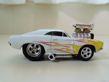 MUSCLE MACHINES - '69 DODGE CHARGER - SUPERCHARGED - FLAMES - 1/64 (LOOSE)