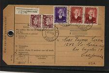 Norway   parcel   card  ?  1953       MS0122
