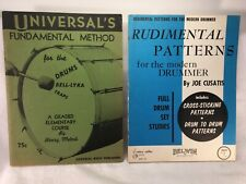 Vintage Set Of 2 Patterns for the Modern Drummer & Drums, Bell-Lyra, Traps Books