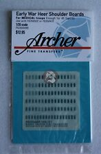 Archer 1/35 Early War Heer Shoulder Boards for Medical Troops FG35049E