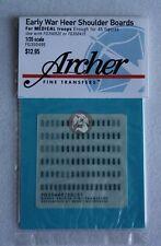 Archer 1/35 Early War Heer Shoulder Boards for Medical Troops FG35049E