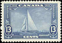 Mint NH Canada 1935 F-VF Scott #216 13c Silver Jubilee.Stamp