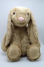 Auxo Plüschtier Kuscheltier Hase beige Madchen Junge XXL 88cm Baby Kinder Kissen