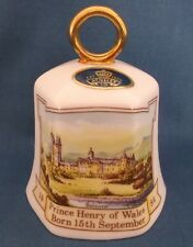 AYNSLEY BIRTH OF PRINCE HARRY HENRY WALES COMMEMORATIVE CHINA BELL ROYAL FAMILY