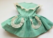 Original ~Terri Lee~ Tagged Turquoise Doll Dress With White Eyelet Trim~
