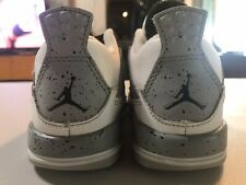 Nike Air Jordan IV 4 White Cement/Oreo Size 9c