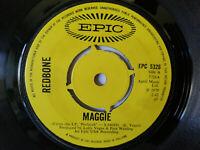"Redbone - ""Maggie""  7"" vinyl record ""New Blue Sermonette"" Play tested"