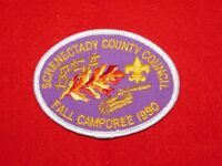 VINTAGE BSA BOY SCOUTS OF AMERICA PATCH 1990 SCHENECTADY COUNCIL FALL CAMPOREE