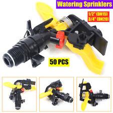 "50pcs 1/2"",3/4"" Garden Lawn Irrigation Sprinklers Watering Spray Nozzles Plastic"